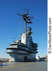 Aircraft carrier - Deck of the aircraft carrier USS...