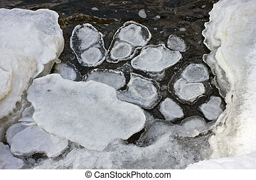 Bigfoot ice print - Ice formed into a shape of an animal...