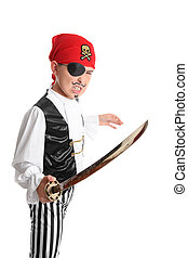 Swashbuckling Pirate - A swashbuckling pirate brandishing a...