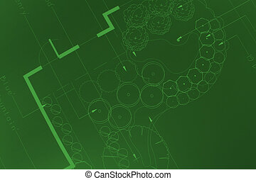 Green prints - General blueprint shot for landscaping,...
