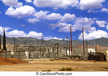 Electricity Power Substation - Electric Power Station in the...