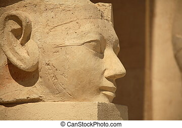 Egyptian Statue - A large stone egyptian statue outside the...