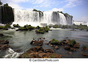 Iguassu (Iguazu; Iguaçu) Falls - Large Waterfalls - The...