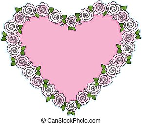 Rose Heart - A wreath of pink roses shaped like a heart