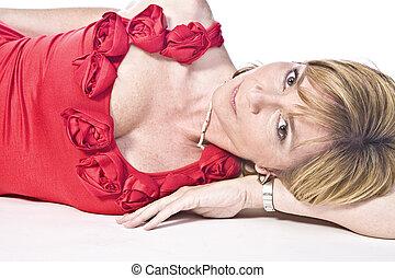 Provocative moder - A adult caucasian woman portrait taken...