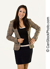 Business woman - Attractive young Hispanic woman wearing a...