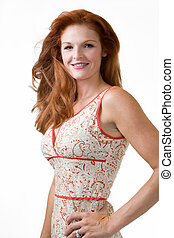 Beautiful red head - Portrait of a beautiful long red hair...