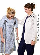 doctor, Porción, paciente