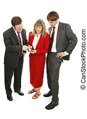 Business Team Checks Market - Business team checking stock...