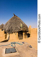 Indian desert house - House in a small isolated village -...
