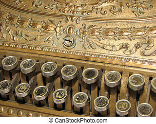Golden Antique Register - Golden Antique Cash Register