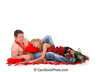 Valentine love, young adults