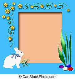 easter scrapbook frame