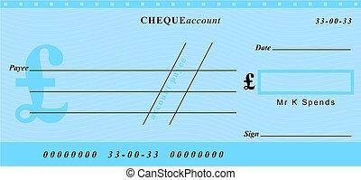 pound cheque