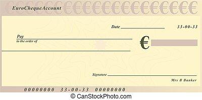 Euro, cheque