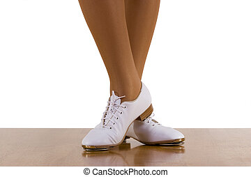 Tap-Top Dance - Tap-top/Clog dancer in clogging shoes; on...