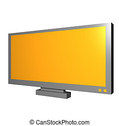 LCD TV Object For Diagram and Presentation - Monitor for...