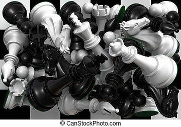 Cramp - Chess pieces on chessboard. Cramp is a chess term...
