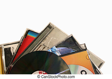 Music - Several music Cds isolated in white background