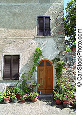 Front door in Italy