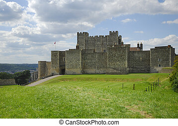 Dover Castle in Kent Uk has guarded the English Channel for...