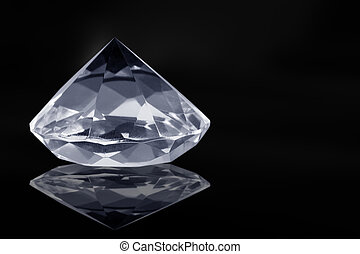 Diamond - A big diamond with black light reflections