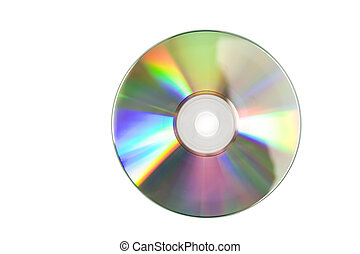 CD - Cd or DVD romes on a white