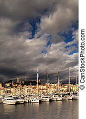 The city of Cannes, southern France