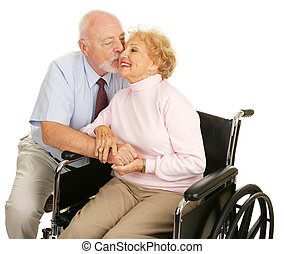 Seniors - Loving Gesture - Affectionate senior husband...