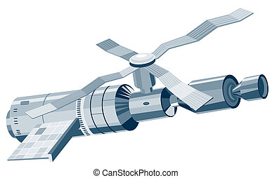 Space station - Illustration of a space station