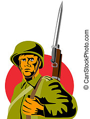 Soldier with bayonet