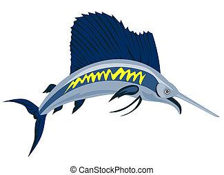 Sailfish - Illustration on marine life