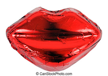 Hot Red Lips - A bright ruby red candy pair of lips