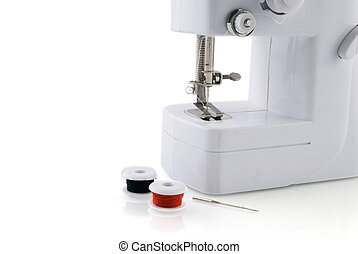 sewing-machine with bobbins