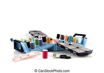 Sewing-box - sewing-box with needles and bobbins