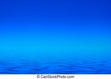 blue sky and blue water - Clear blue water background with a...