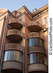The balconies - the corner of Petersburgs residential house...