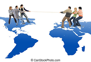 Tug of war between America and Europe