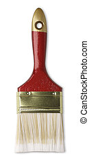 new paint brush  - paint brush isolated on white background