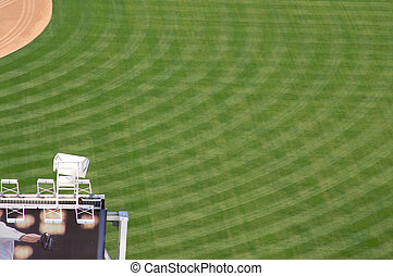 Baseball Park - View of Baseball Stadium Outfield during the...