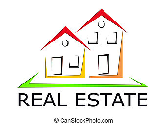 Real Estate Icon - illustration of colorful real estate icon