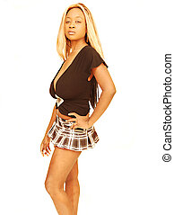 Young Jamaican girl - An young blond jamaican girl in a mini...