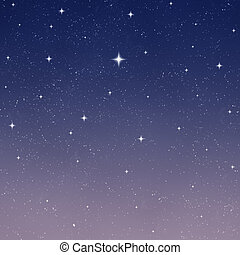 starry night sky - beautiful stars shining in the night sky