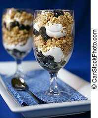 2 Fancy Blueberry Desserts - Two Gourmet Desserts Shot in...