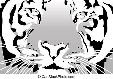 Tiger - Abstract vector illustration of a tiger