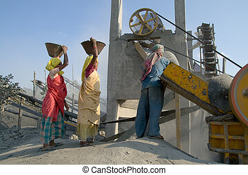 stone crushers in india - picture from a stone industry in...