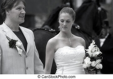 We and the horses - pictures shooten on a wedding day from a...