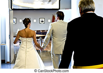 Walking away - pictures shooten on a wedding day from a...