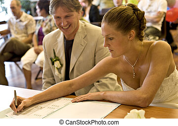 Writing down the *yes* - pictures shooten on a wedding day...