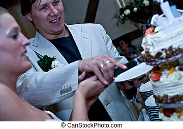 Cut the pie - pictures shooten on a wedding day from a...